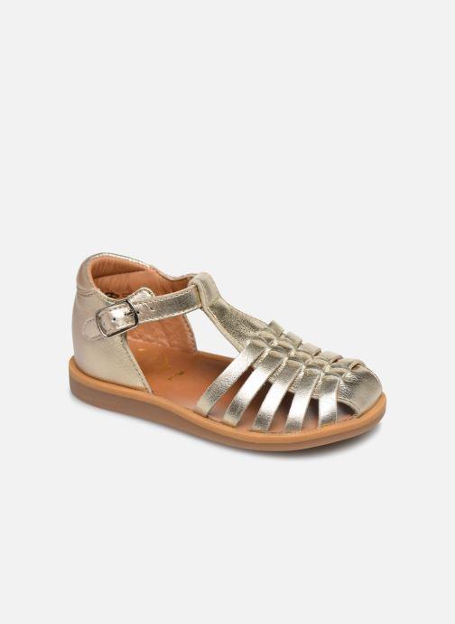 Sandales et nu-pieds Pom d Api Poppy Pitti Or et bronze vue détail/paire