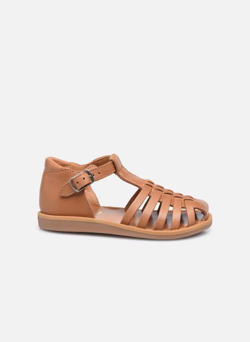 Sandali e scarpe aperte Pom d Api Poppy Pitti Marrone immagine posteriore