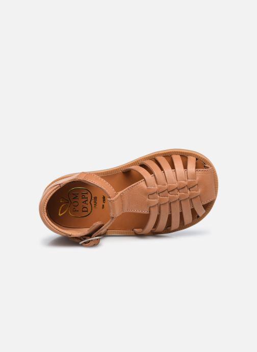 Sandali e scarpe aperte Pom d Api Poppy Pitti Marrone immagine sinistra
