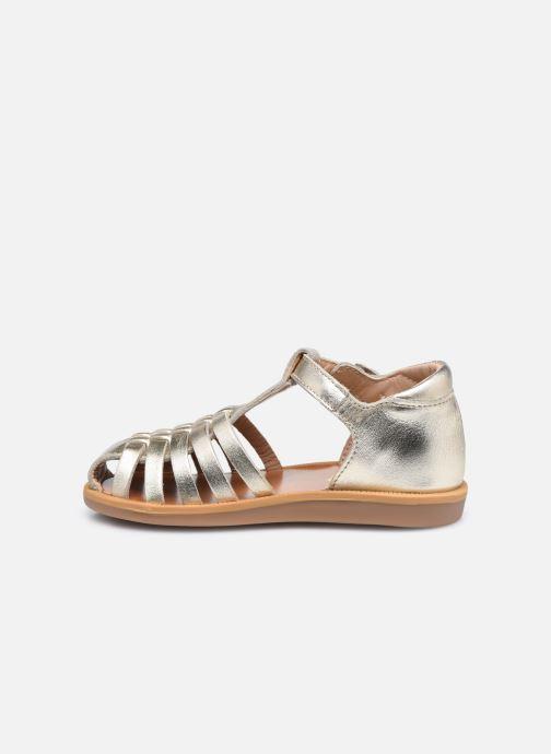 Sandali e scarpe aperte Pom d Api Poppy Pitti Oro e bronzo immagine frontale