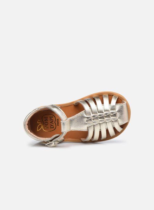 Sandali e scarpe aperte Pom d Api Poppy Pitti Oro e bronzo immagine sinistra