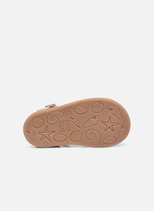 Sandali e scarpe aperte Pom d Api Poppy Pitti Oro e bronzo immagine dall'alto