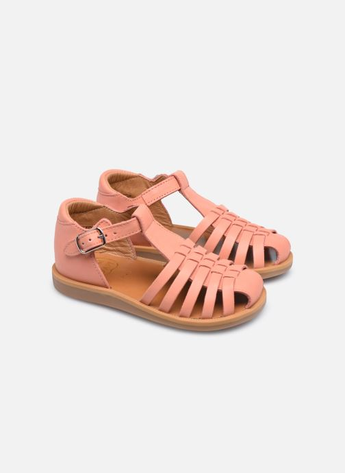 Sandales et nu-pieds Pom d Api Poppy Pitti Orange vue 3/4