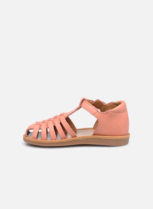 Sandales et nu-pieds Pom d Api Poppy Pitti Orange vue face