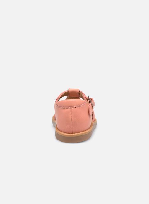 Sandales et nu-pieds Pom d Api Poppy Pitti Orange vue droite