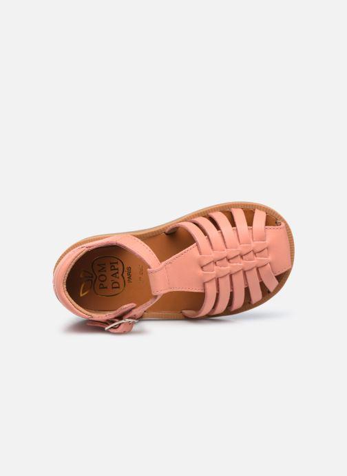 Sandales et nu-pieds Pom d Api Poppy Pitti Orange vue gauche