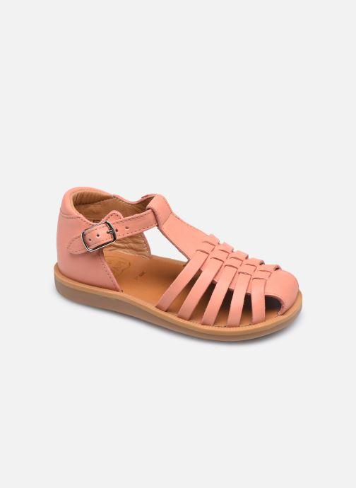 Sandales et nu-pieds Pom d Api Poppy Pitti Orange vue détail/paire