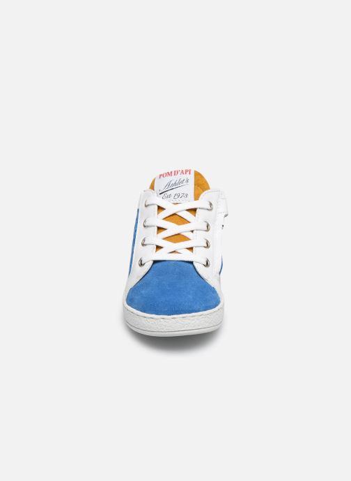 Bottines et boots Pom d Api Mousse Zip Clay Bleu vue portées chaussures