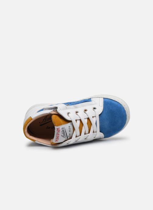 Bottines et boots Pom d Api Mousse Zip Clay Bleu vue gauche