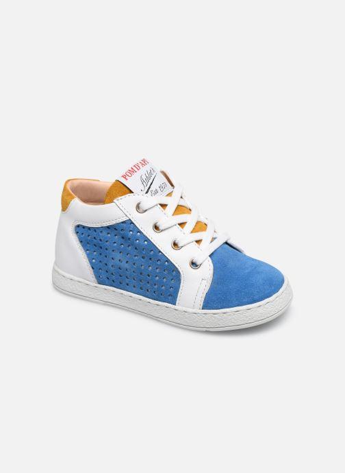 Bottines et boots Pom d Api Mousse Zip Clay Bleu vue détail/paire