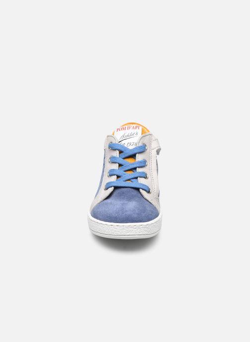 Stiefeletten & Boots Pom d Api Mousse Zip Clay blau schuhe getragen