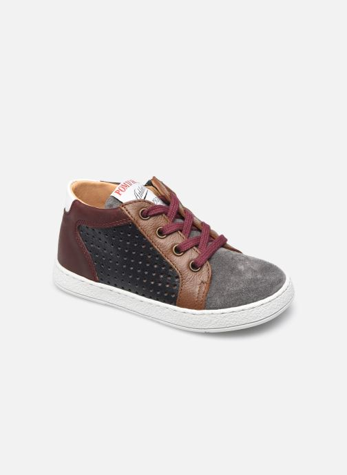 Boots en enkellaarsjes Pom d Api Mousse Zip Clay Blauw detail