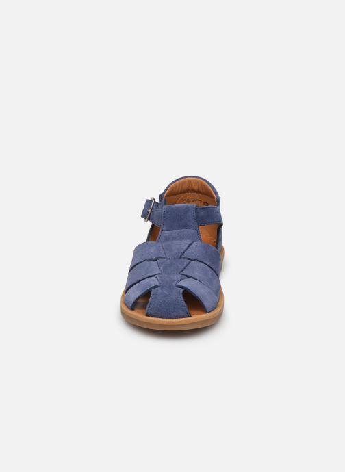 Sandalen Pom d Api Poppy Daddy blau schuhe getragen