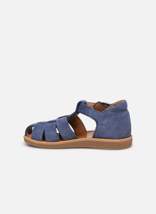 Sandalen Pom d Api Poppy Daddy blau ansicht von vorne