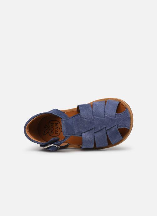 Sandalen Pom d Api Poppy Daddy blau ansicht von links