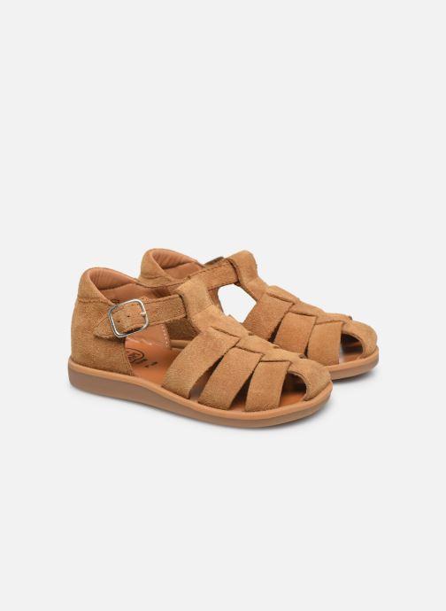 Sandales et nu-pieds Pom d Api Poppy Daddy Marron vue 3/4
