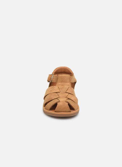 Sandales et nu-pieds Pom d Api Poppy Daddy Marron vue portées chaussures