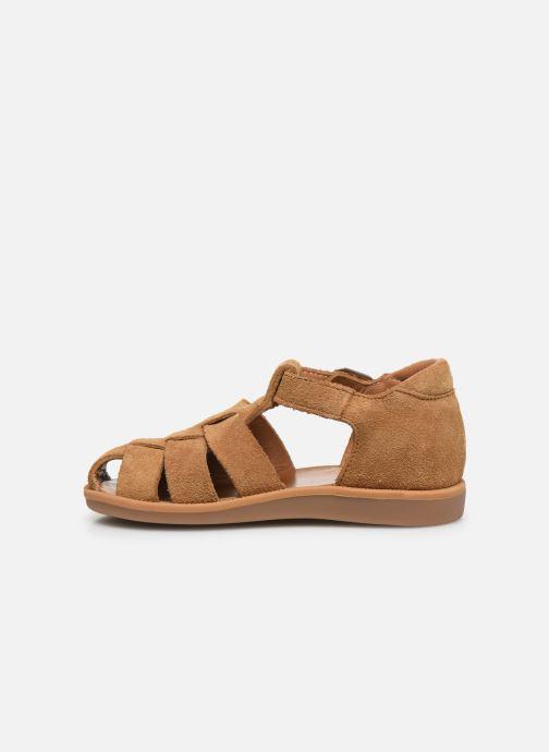 Sandales et nu-pieds Pom d Api Poppy Daddy Marron vue face