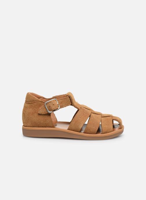 Sandales et nu-pieds Pom d Api Poppy Daddy Marron vue derrière