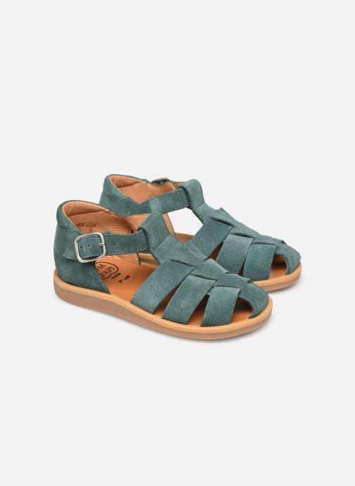 Sandales et nu-pieds Pom d Api Poppy Daddy Vert vue 3/4