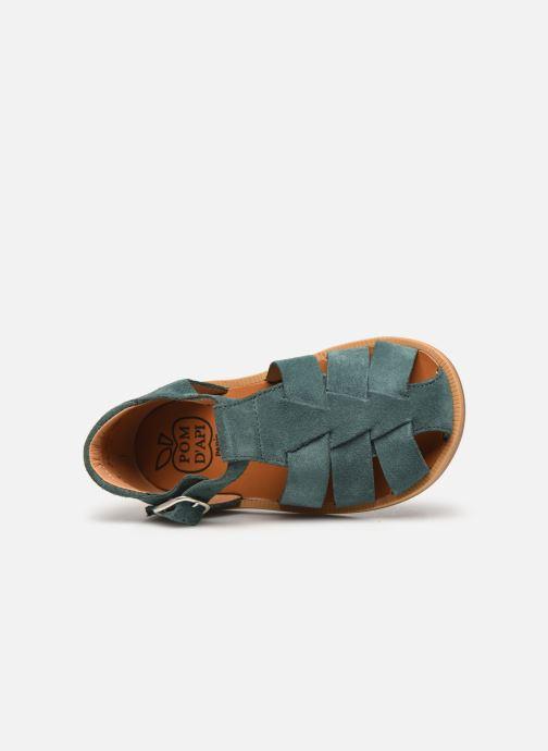 Sandales et nu-pieds Pom d Api Poppy Daddy Vert vue gauche