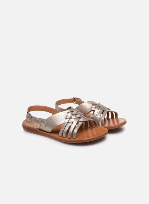 Sandales et nu-pieds Pom d Api Plagette Cut Or et bronze vue 3/4
