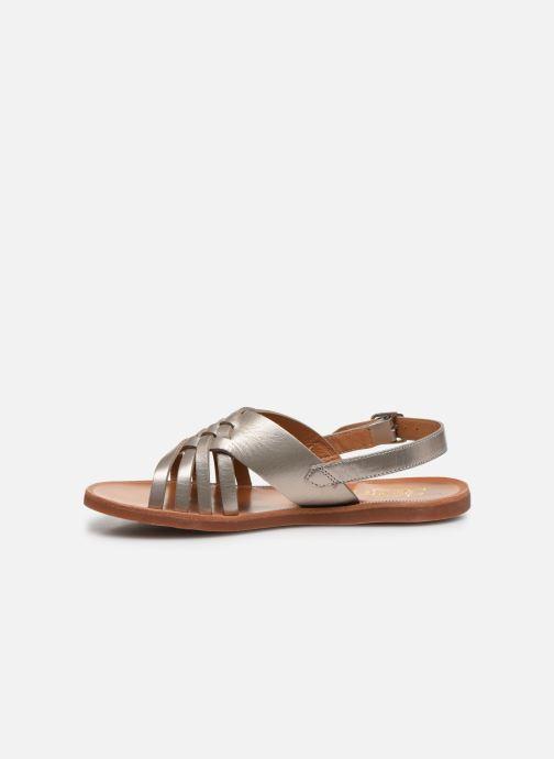 Sandales et nu-pieds Pom d Api Plagette Cut Or et bronze vue face