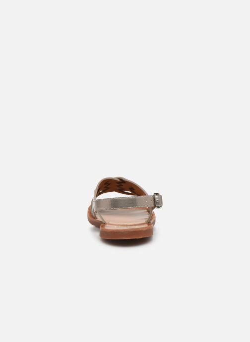 Sandales et nu-pieds Pom d Api Plagette Cut Or et bronze vue droite