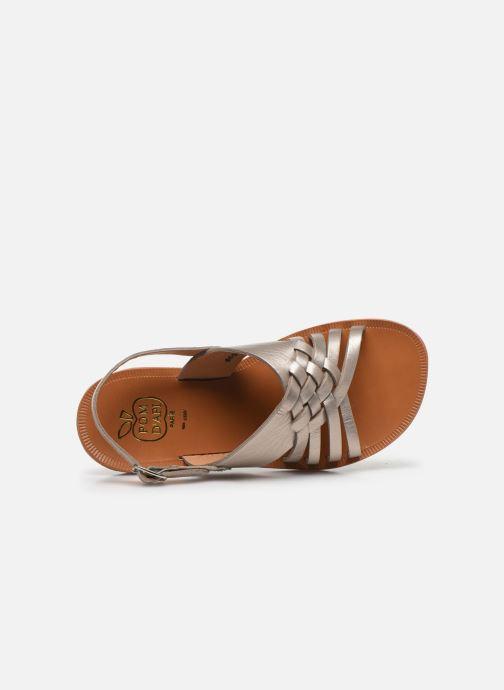 Sandales et nu-pieds Pom d Api Plagette Cut Or et bronze vue gauche
