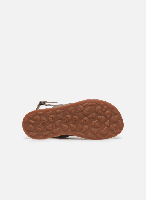 Sandalen Pom d Api Plagette Cut Goud en brons boven