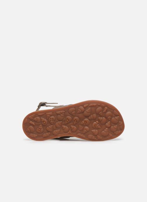 Sandales et nu-pieds Pom d Api Plagette Cut Or et bronze vue haut