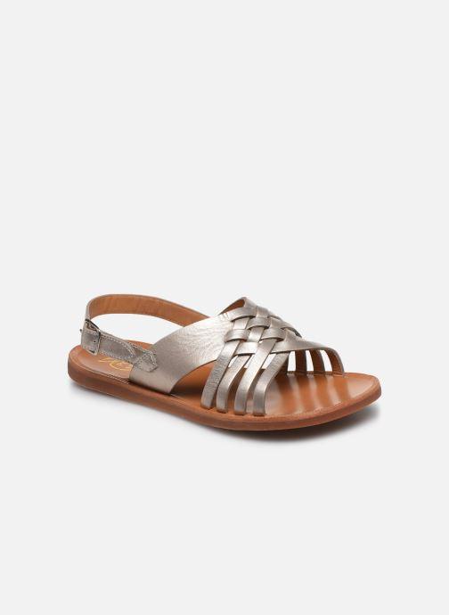 Sandales et nu-pieds Pom d Api Plagette Cut Or et bronze vue détail/paire