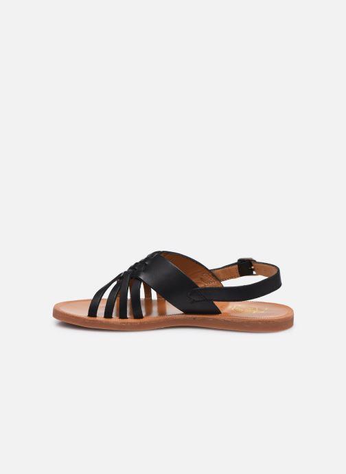 Sandalen Pom d Api Plagette Cut schwarz ansicht von vorne