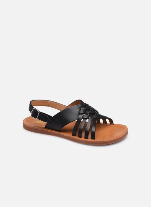Sandalen Pom d Api Plagette Cut schwarz detaillierte ansicht/modell