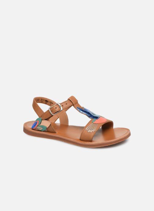 Sandales et nu-pieds Pom d Api Plagette Colibri Multicolore vue détail/paire