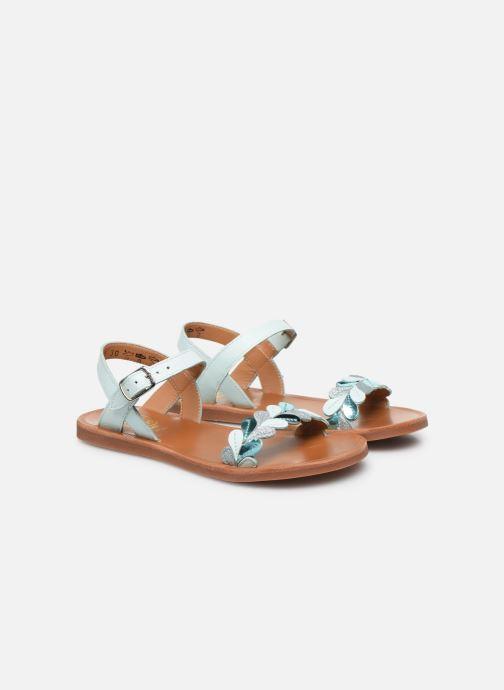Sandales et nu-pieds Pom d Api Plagette Ferns Bleu vue 3/4