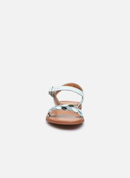 Sandales et nu-pieds Pom d Api Plagette Ferns Bleu vue portées chaussures