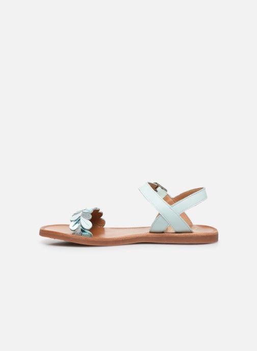 Sandales et nu-pieds Pom d Api Plagette Ferns Bleu vue face