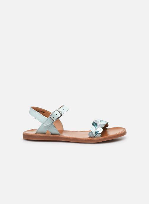 Sandales et nu-pieds Pom d Api Plagette Ferns Bleu vue derrière