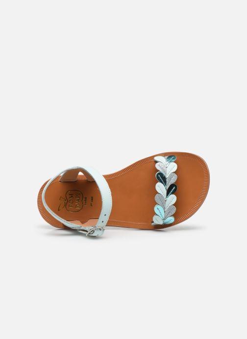 Sandales et nu-pieds Pom d Api Plagette Ferns Bleu vue gauche