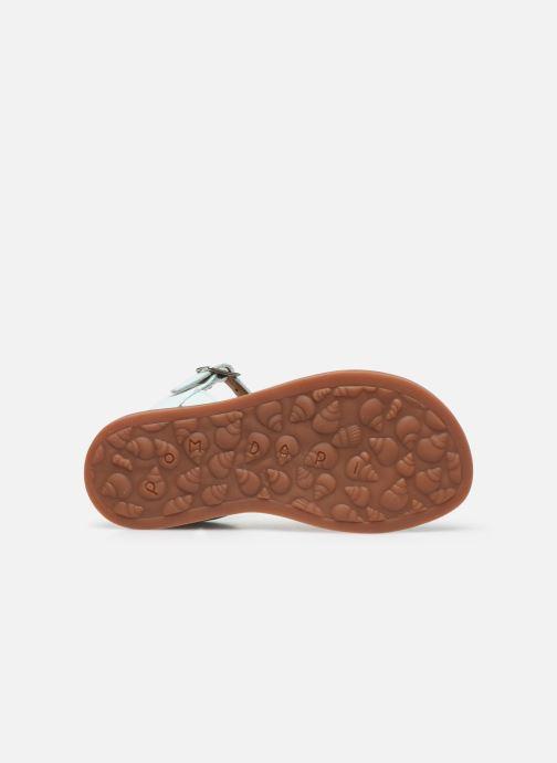 Sandales et nu-pieds Pom d Api Plagette Ferns Bleu vue haut