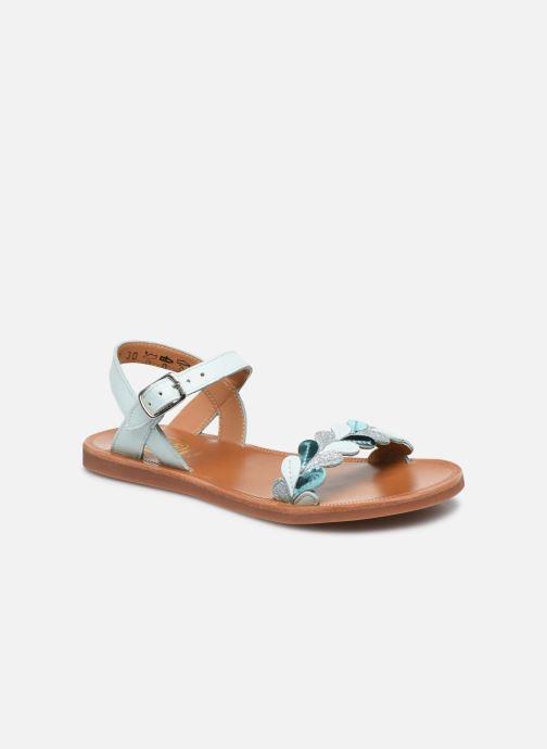 Sandales et nu-pieds Pom d Api Plagette Ferns Bleu vue détail/paire