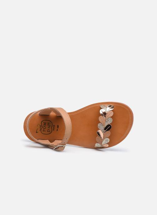 Sandali e scarpe aperte Pom d Api Plagette Ferns Marrone immagine sinistra