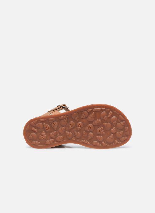 Sandali e scarpe aperte Pom d Api Plagette Ferns Marrone immagine dall'alto