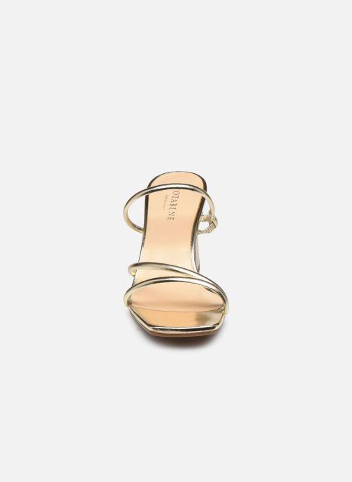 Mules et sabots Notabene Cycas Or et bronze vue portées chaussures