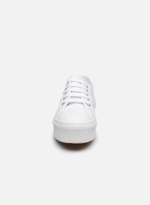 Baskets Superga 2790 Cot Plato Linea C20 W Blanc vue portées chaussures