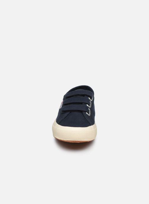 Baskets Superga 2750 Cot 3 Strapu C20 W Bleu vue portées chaussures