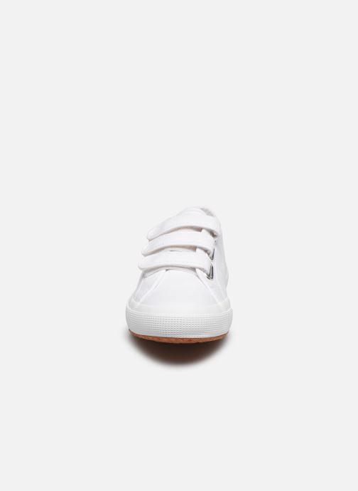 Baskets Superga 2750 Cot 3 Strapu C20 M Blanc vue portées chaussures