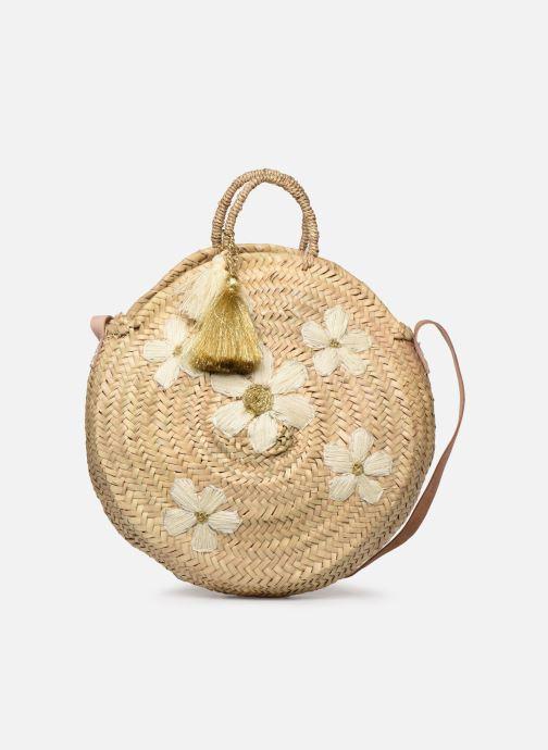 Håndtasker Tasker Panier Rond Bandoulière Et Anses Pompons Fleurs