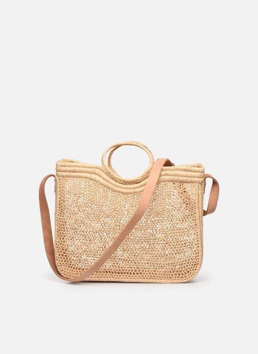 Handtaschen Etincelles Sac Raphia Crochet beige ansicht von vorne
